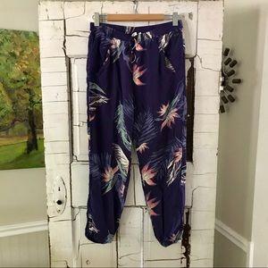 Roxy tropical palm fronds lounge pants